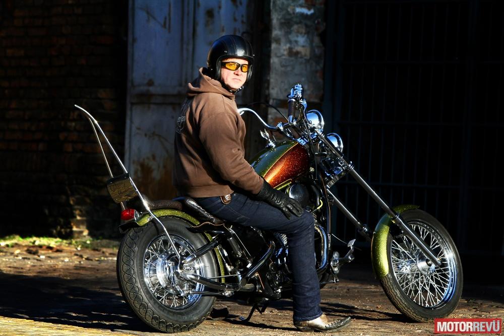 Motorok Custom sarok Double Freerdom: Honda Shadow easy rider módra