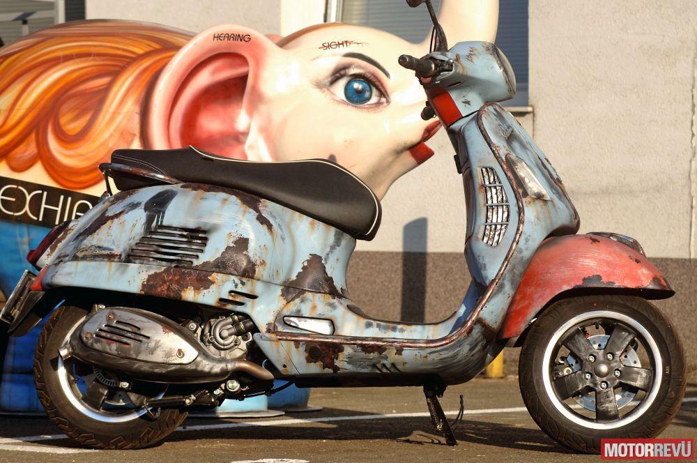 Motorok Custom sarok Rozsdás Vespa