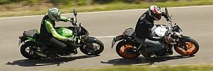 �sszehasonl�t� teszt - kis naked bike-ok