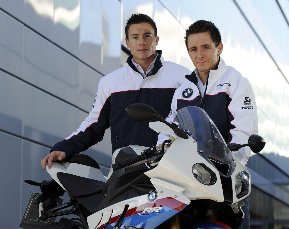 James Toseland és Ayrton Badovini a BMW-nél