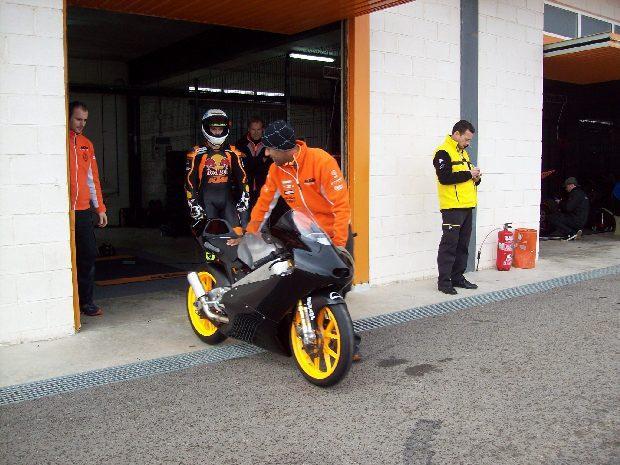 KTM Moto3 teszt