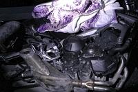 Lopott MT-09-et tal�ltak egy kisbusz rakter�ben