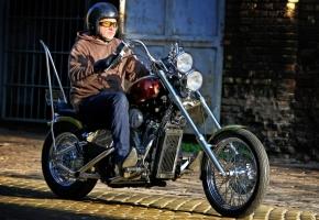 Honda Shadow easy rider módra