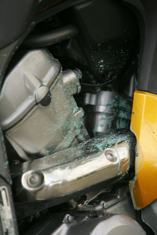 Honda Transalp hűtőhiba