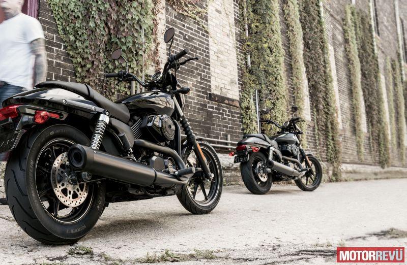 Motorok Harley-Davidson Street 750 és 500 bemutató