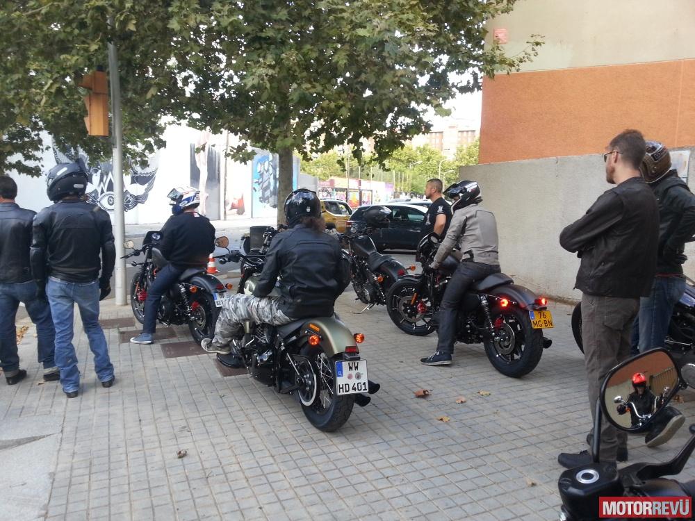 Bemutatók és kiállítások Harley-Davidson 2016-os újdonságainak barcelonai bemutatója