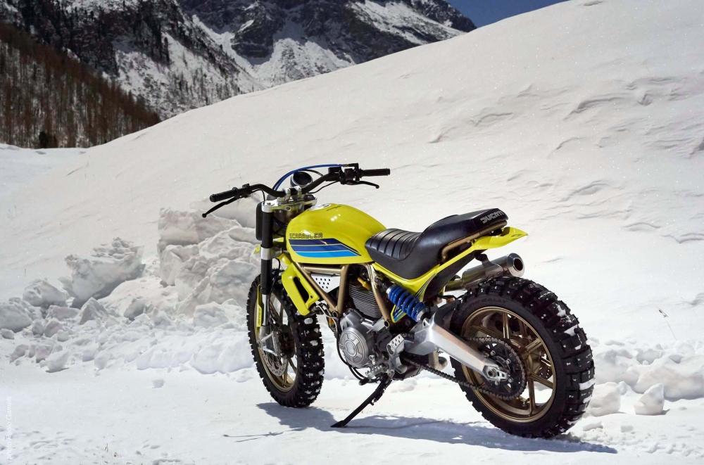 Motorok Custom sarok Ducati Scrambler Artika - Dario Lopez Studio