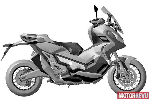 Motorok Honda City Adventure szabadalmi rajzok