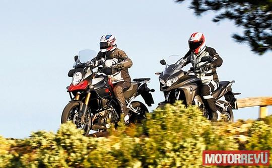 Motorok Tesztek galériája Honda Crossrunner, Suzuki V-Strom 1000