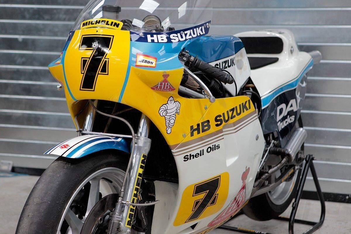 Motorok Versenymotorok Barry Sheene 1983-as Heron Suzuki RGB500-asa