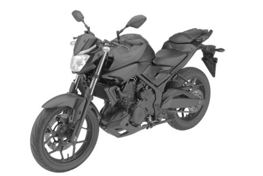 Motorok Yamaha MT-03 szabadalmi rajzok